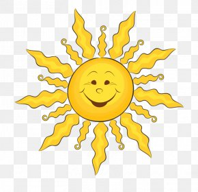 Ub - Smiling Sun Smiley Clip Art PNG