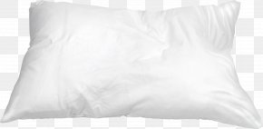 White Pillow - Throw Pillow Cushion Bed Sheet Black And White PNG