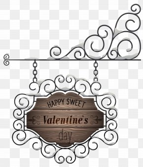 Happy Valentine's Day Sign Transparent PNG Clip Art Image - Valentine's Day Clip Art PNG