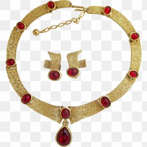 Ruby - Ruby Earring Necklace Jewellery Costume Jewelry PNG