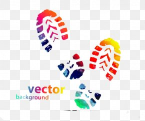 Fashion Color Footprints Element - Shoe Sneakers Converse Footprint Printing PNG