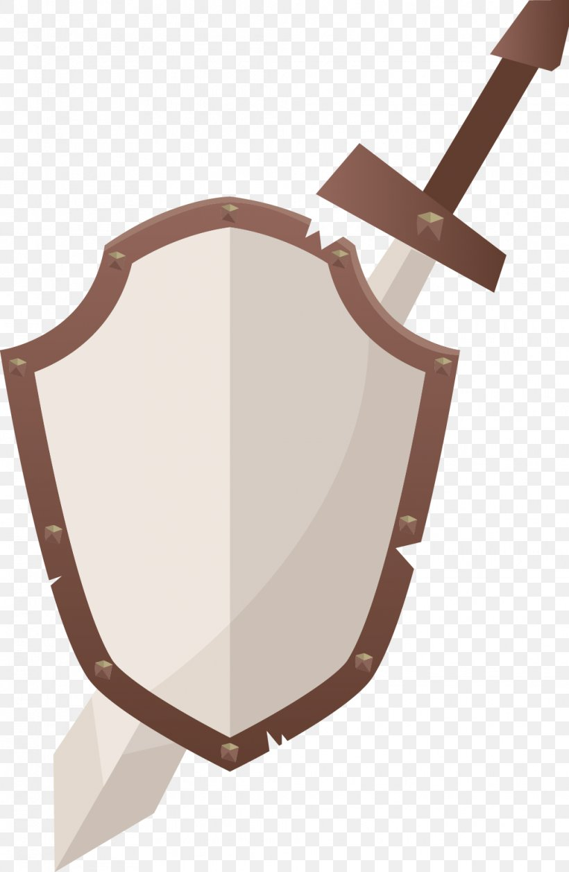 Shield Sword Icon, PNG, 1015x1556px, Shield, Brown, Knight, Sword, Weapon Download Free