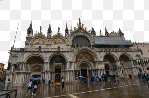 Venice, Italy Fifteen - Doges Palace Saint Marks Basilica Bridge Of Sighs Architecture PNG