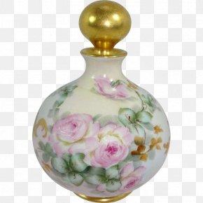 Perfume - Limoges Porcelain Perfume Vase Bottle PNG