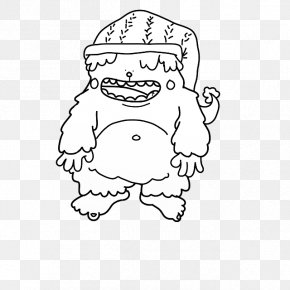 Bigfoot Clip Art Yeti - Clip Art Bigfoot Illustration Mammal Human PNG