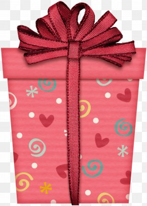 Magenta Present - Christmas Gift New Year Gift Gift PNG