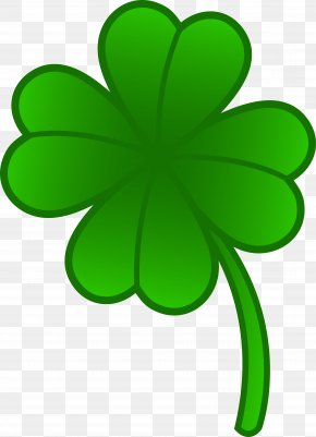 Four Leaf Clover Clipart - Four-leaf Clover Shamrock Saint Patrick's Day Clip Art PNG