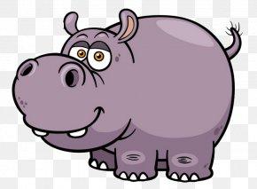 Cartoon Rhino - Hippopotamus Cartoon Stock Photography Clip Art PNG