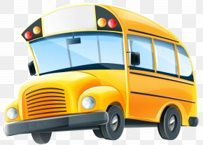 School Bus Clip Art Image - School Bus Cartoon Clip Art PNG
