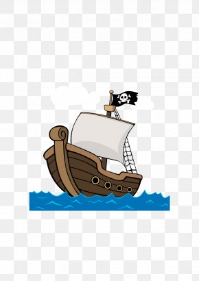 Vector Pirate Ship - Cartoon Ship Piracy PNG