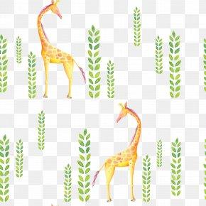Cartoon Giraffe - Northern Giraffe Textile Cartoon Clip Art PNG