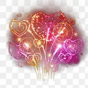 Love Color Festival Fireworks Vector - Fireworks Heart Photography PNG