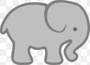 Elephant Outline - Light Blue Elephant Clip Art PNG
