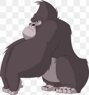 Gorillas Are Hercules - Chimpanzee Gorilla Ape Cartoon PNG