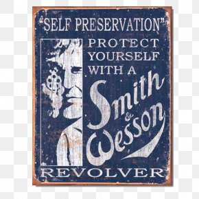 Metal Sign - Smith & Wesson SW1911 Tin Firearm Gun PNG