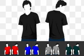 Colorful Short Sleeve Model - T-shirt Sleeve PNG