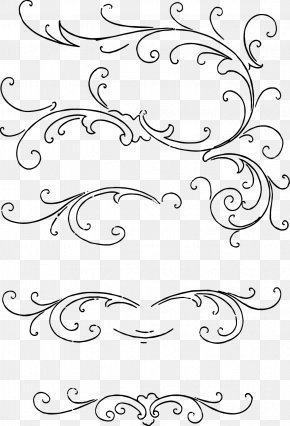 Vintage Lines Cliparts - Calligraphy Drawing Clip Art PNG