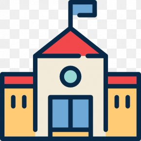 School Building - School Symbol Download PNG