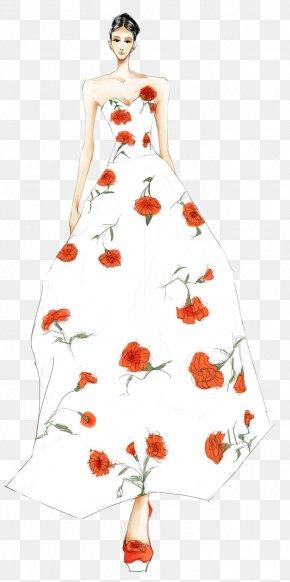 Beautiful Wedding Dress Design Illustration - Wedding Dress Designer Illustration PNG