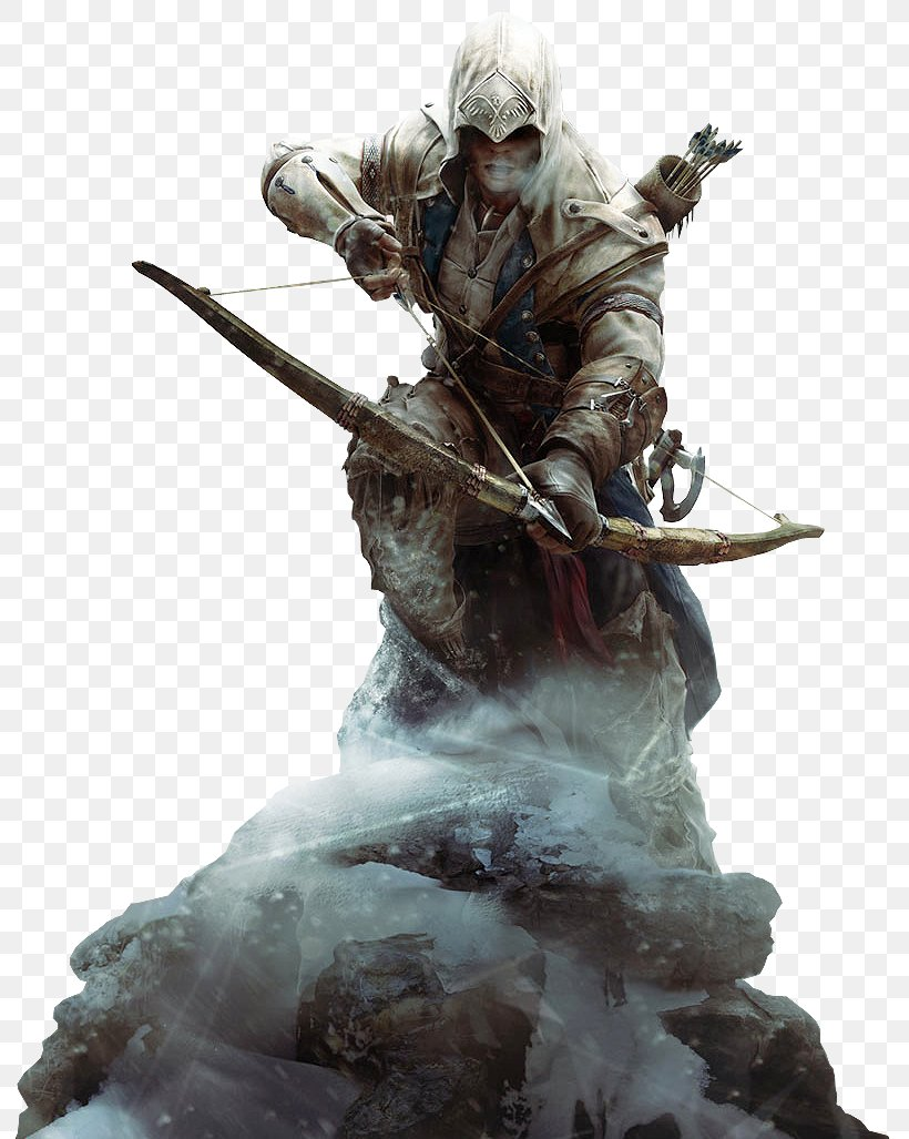 Assassin's Creed III Assassin's Creed IV: Black Flag Assassins Video Game, PNG, 813x1027px, 4k Resolution, 5k Resolution, 8k Resolution, Assassin S Creed Iii, Action Figure Download Free