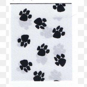 Watercolor Ribbon - Black Textile White Paw Pattern PNG