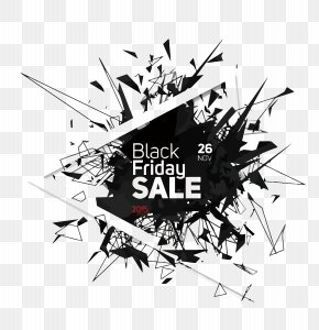 Vector Geometry Crushing Black Five - Black Friday Poster PNG