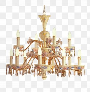 Candle Chandelier - Chandelier Candle Light Fixture Living Room PNG