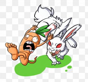 Rabbit Eat Carrot - Cartoon Comics Drawing Clip Art PNG