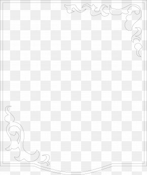 Black Frame For Home Decoration - Line Black And White Angle Point PNG