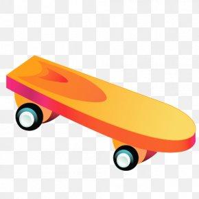 Cartoon Skateboard Shoes - Toy Vecteur Clip Art PNG