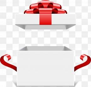 White Simple Gift Box - Decorative Box Gift Ribbon PNG