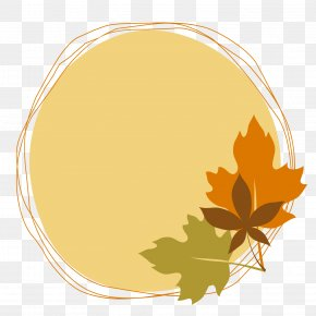 Vector Drawing Maple Leaf Round Decorative Box - Euclidean Vector Computer File PNG