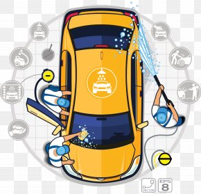Professional Car Wash Shop - Car Wash Auto Detailing Illustration PNG
