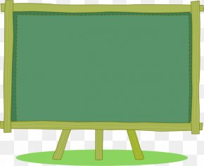 Small Green Chalkboard - Cartoon Blackboard Download PNG