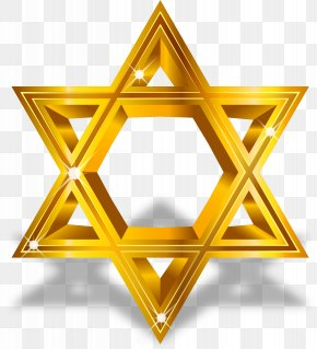 Vector Painted Gold Star Of David - Star Of David Computer File PNG