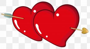Valentine Hearts With Arrow PNG Clipart Picture - Heart Valentine's Day Clip Art PNG