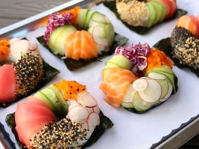 Sushi - Donuts Sushi Japanese Cuisine Poke Food PNG