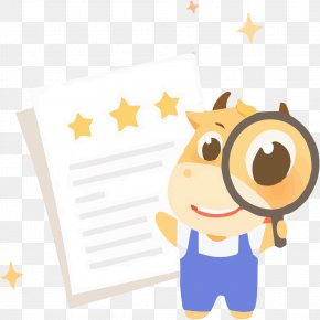 Star Reviews With A Magnifying Glass - Magnifying Glass Icon PNG