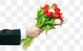 Flower - Flower Bouquet Cut Flowers Tulip Gift PNG