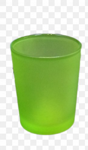 Lovely Candles - Flowerpot Plastic Glass Green PNG