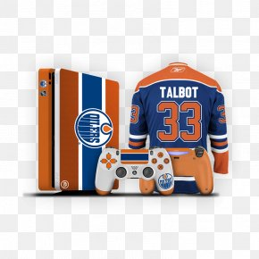 Edmonton Oilers Logo - Home Game Console Accessory Sony PlayStation 4 Slim Video Game Consoles Jersey Product Design PNG