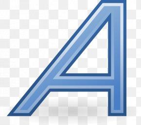 Blue Underline - Italic Type PNG