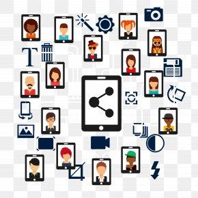 Vector Material Social Media - Social Media Computer Network Icon PNG
