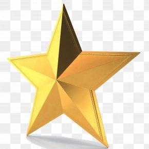 3D Gold Star Pic - 3D Computer Graphics PNG