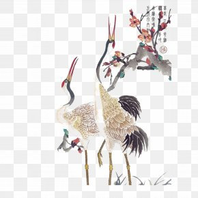 Crane - Red-crowned Crane Tattoo PNG