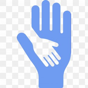 Logo Electric Blue - Glove Personal Protective Equipment Safety Glove Hand Finger PNG