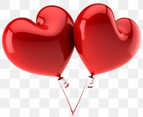 Heart Ballon - Heart Balloon Valentine's Day Clip Art PNG