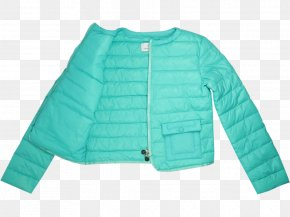 Padded - Turquoise Aqua Electric Blue Teal Outerwear PNG
