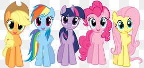 Minimal Party - Pinkie Pie Rainbow Dash Pony Twilight Sparkle Applejack PNG
