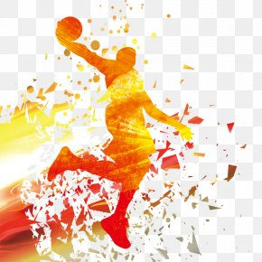Basketball Player Silhouette - NBA Basketball Download PNG